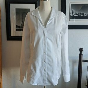 Brooks Brothers White Button Down Shirt Size 14